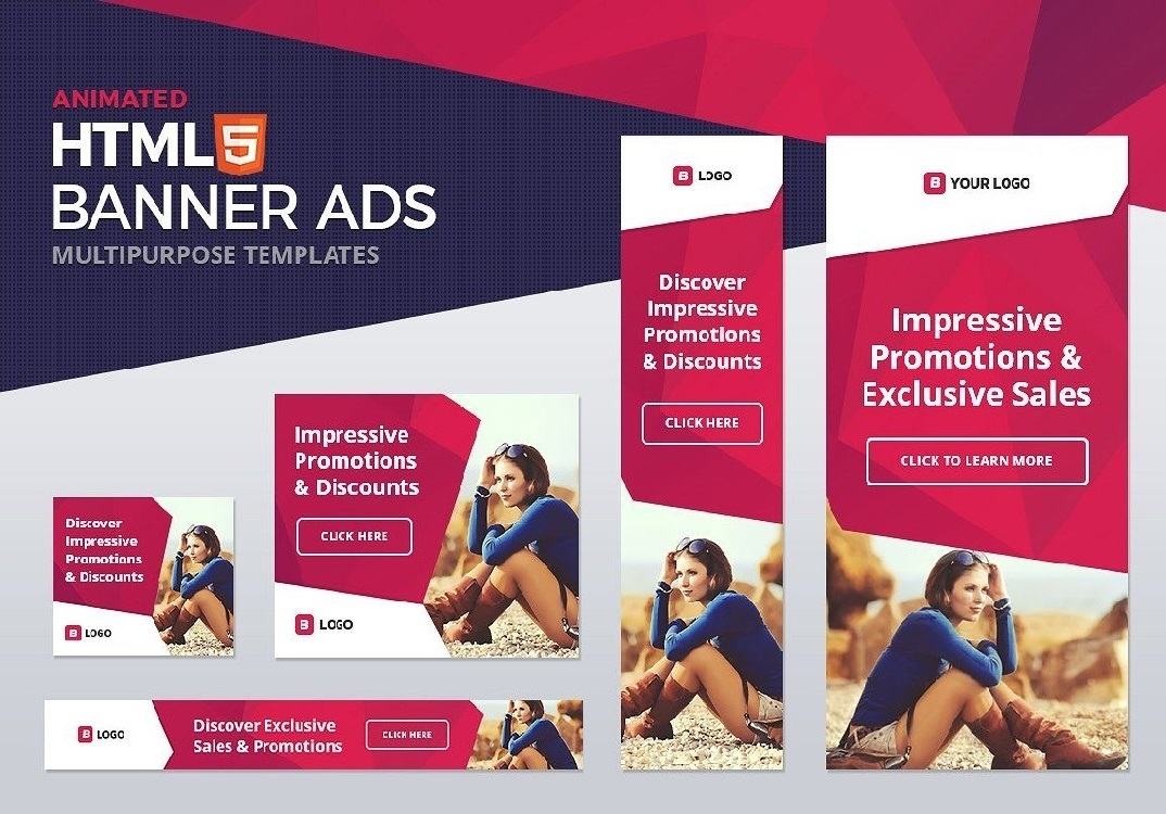 a animated GIF ads and Banner or HTML Banner