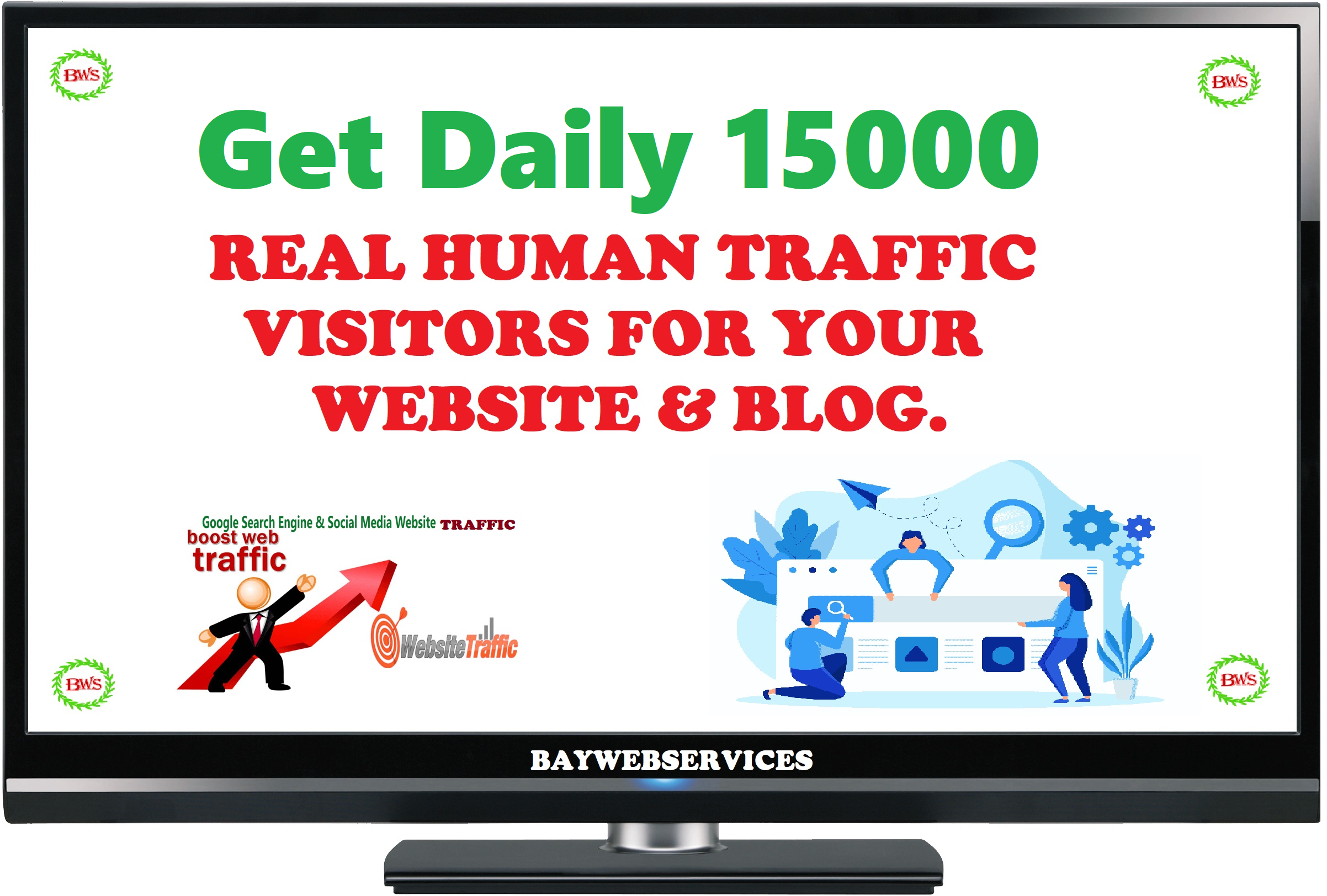 I will Drive 15000 Traffic to your Website or blog each day