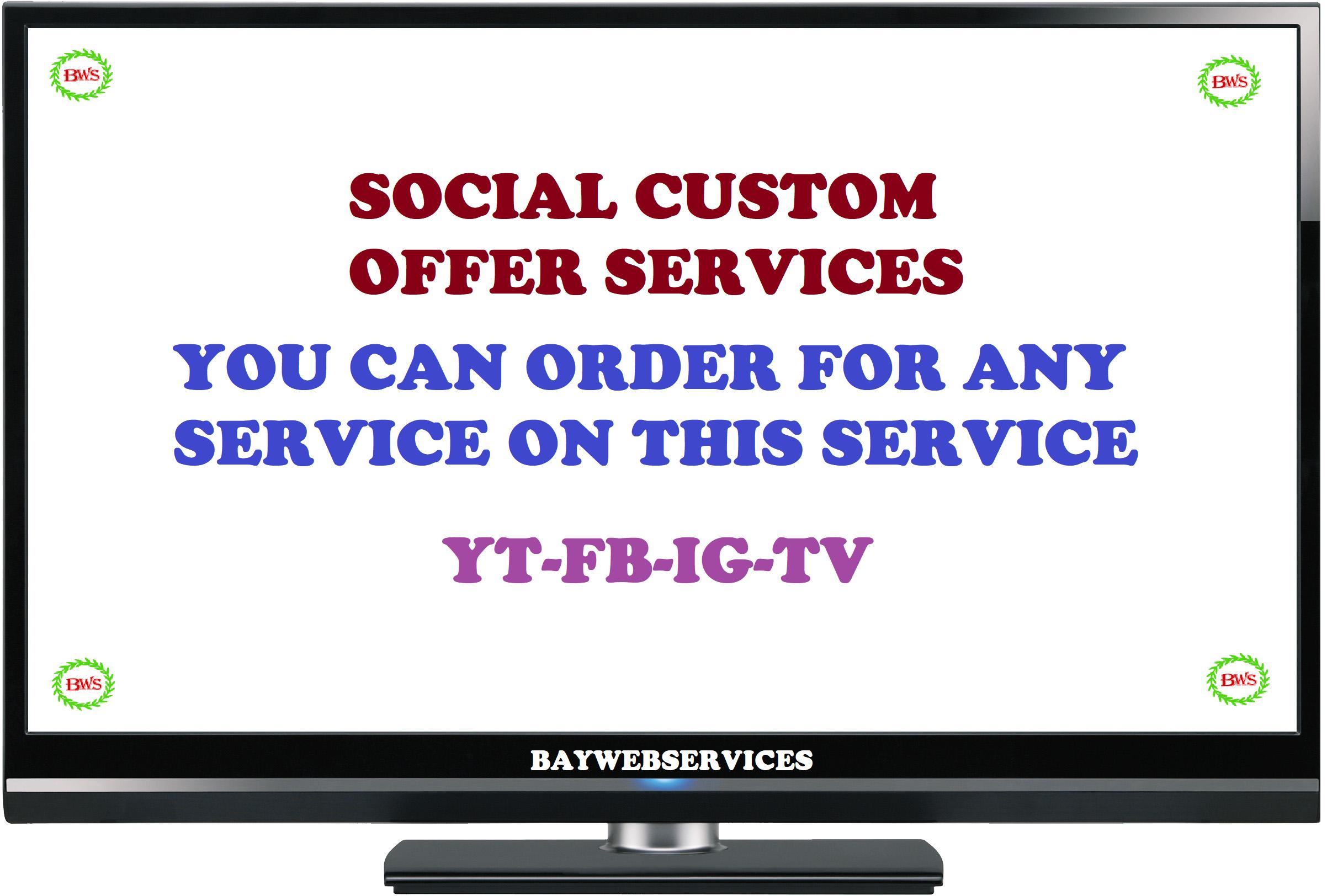 Custom offer for my regular buyer