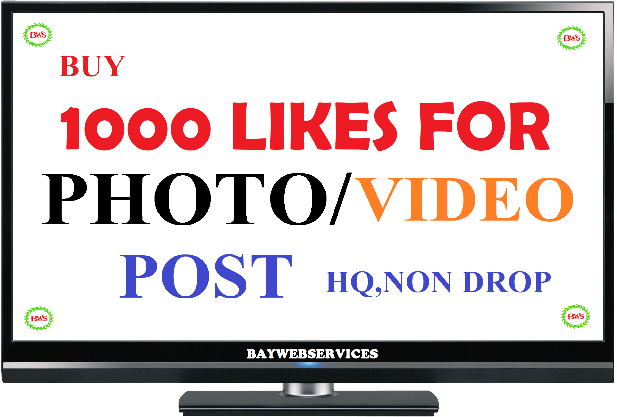 INSTANT 1000 Picture OR Video-promotion drip feed