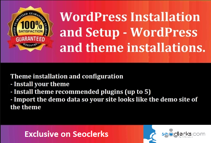 I will install WordPress theme on cPanel,  WordPress setup,  install plugin