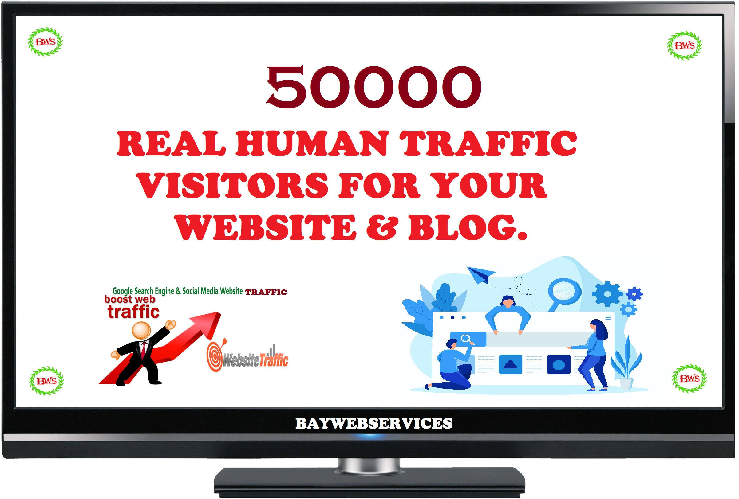 50000 Real Human Traffic & Social Visitors to website and blog