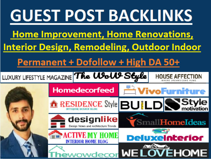 I will do guest post home improvement site