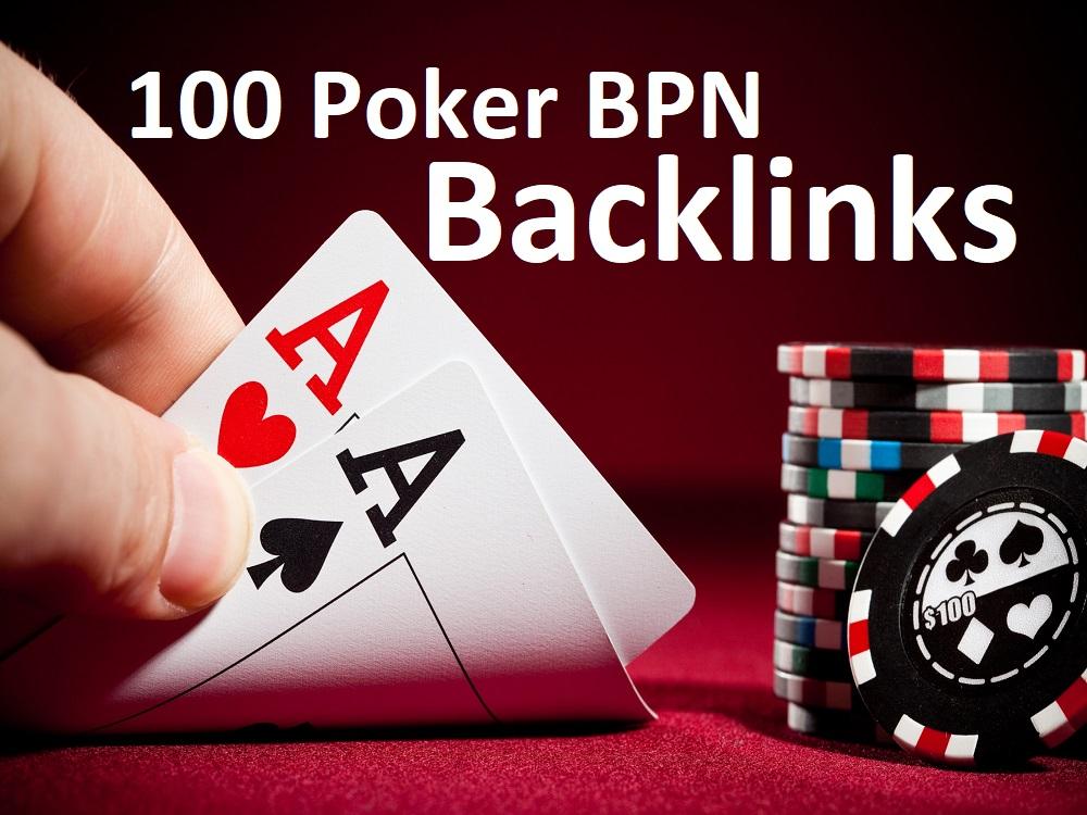 Unique 100 poker/gambling/casino etc Sites DA 45+ PA 45+ PR 50+ Web 2.0 100 PBN for 10