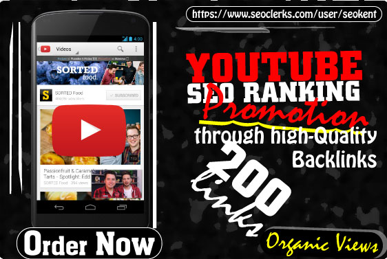 YOUTUBE SEO RANKING - Promote Your YouTube Video through 200 high-quality Backlinks
