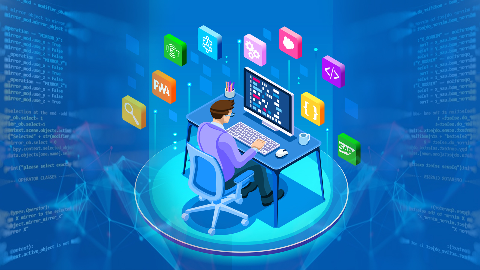 I will create software or web application