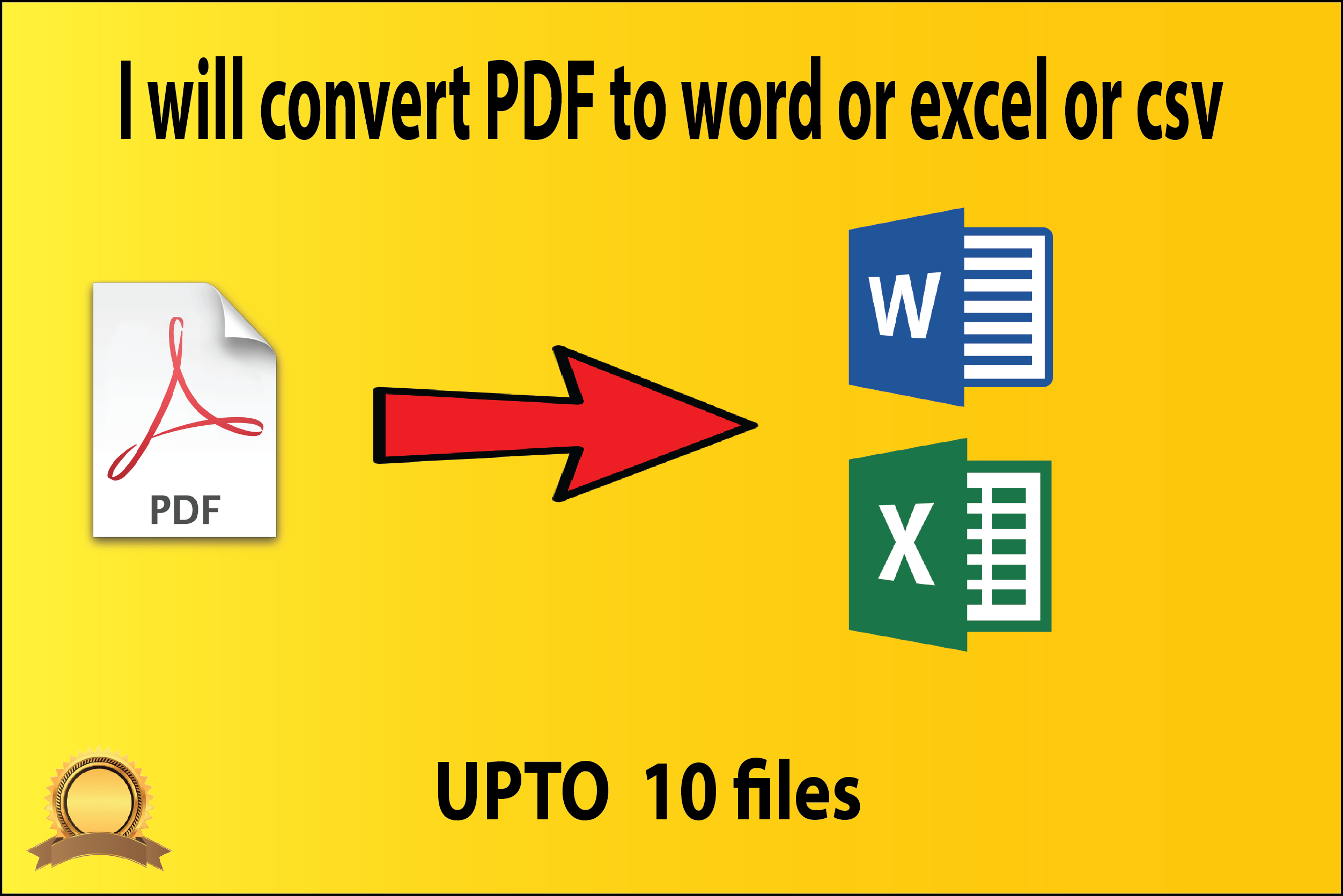 I will convert PDF to word or excel or csv