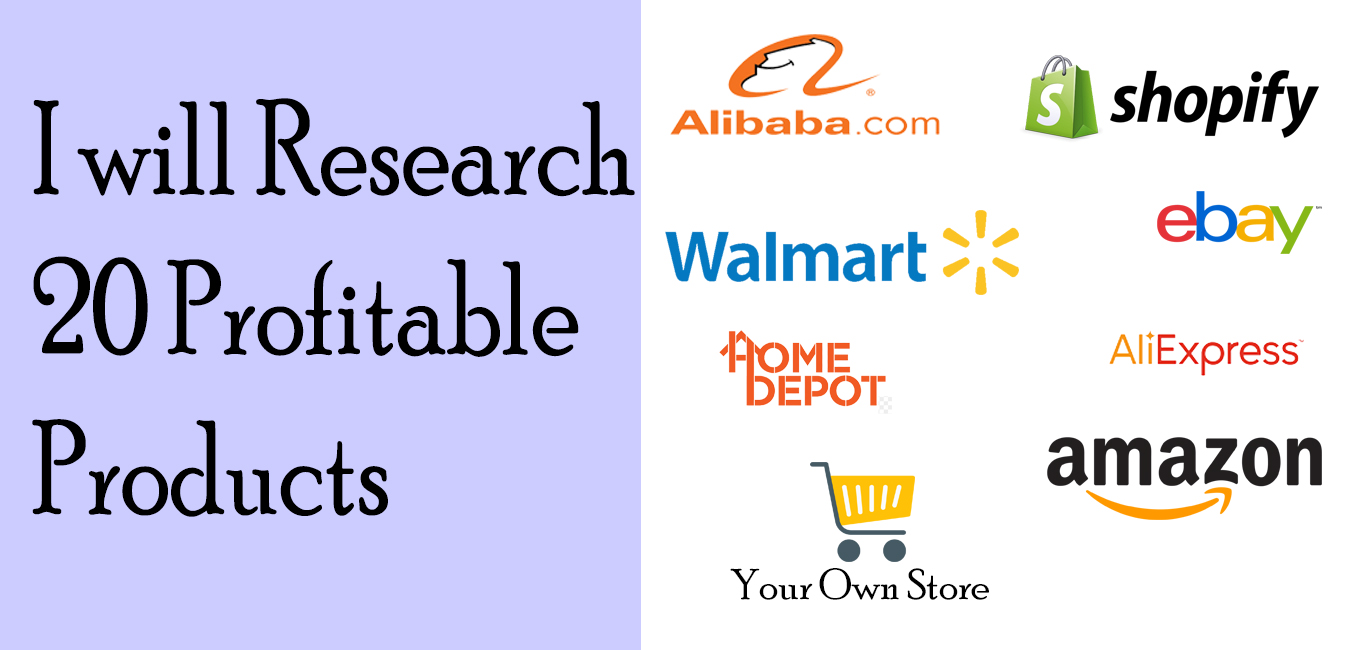 I Will Research 20 Profitable Products for FBM Dropshipping
