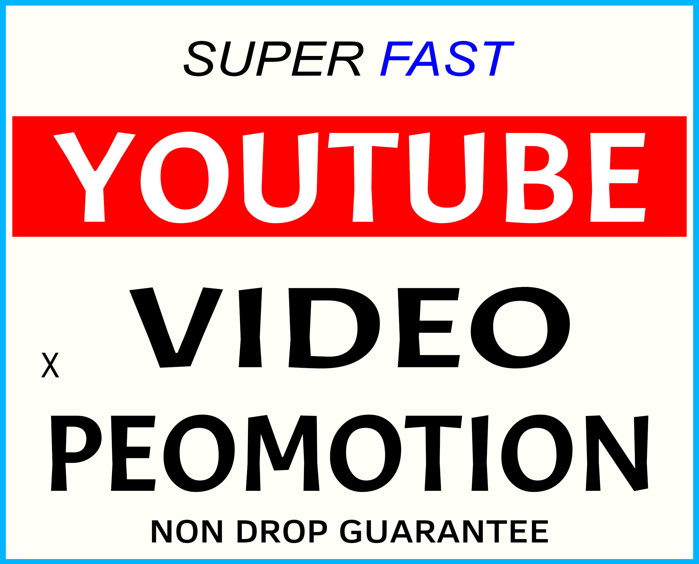 YOUTUBE VIDEO PROMOTION NON DROP AND LIFE TIME GUARANTEED WITH SUPER FAST