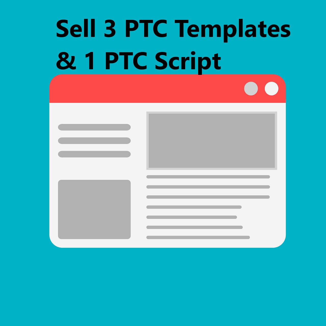 sell 3 ptc website templates and the script