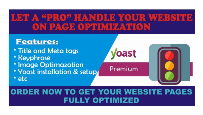 I will do wordpress onpage optimization with yoast seo plugin