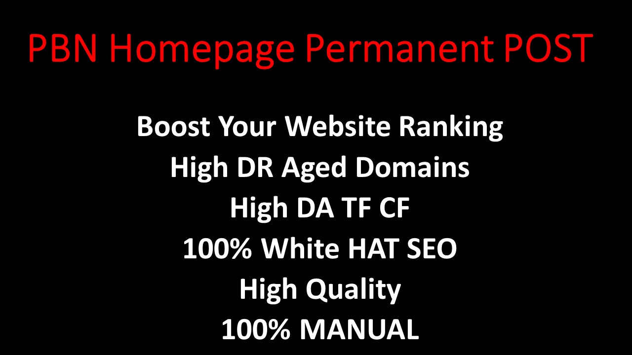 2021 Exclusive 5 Homepage Permanent PBN Post UNIQUE Domain with High DA TF CF Authority Backlinks