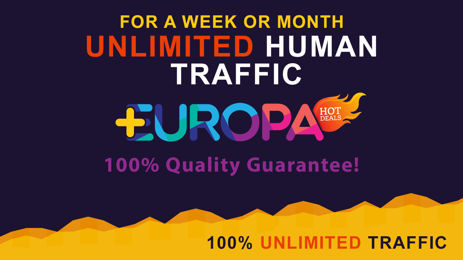 UNLIMITED HUMAN TRAFFIC FOR A WEEK OR MONTH PLUS BONUS
