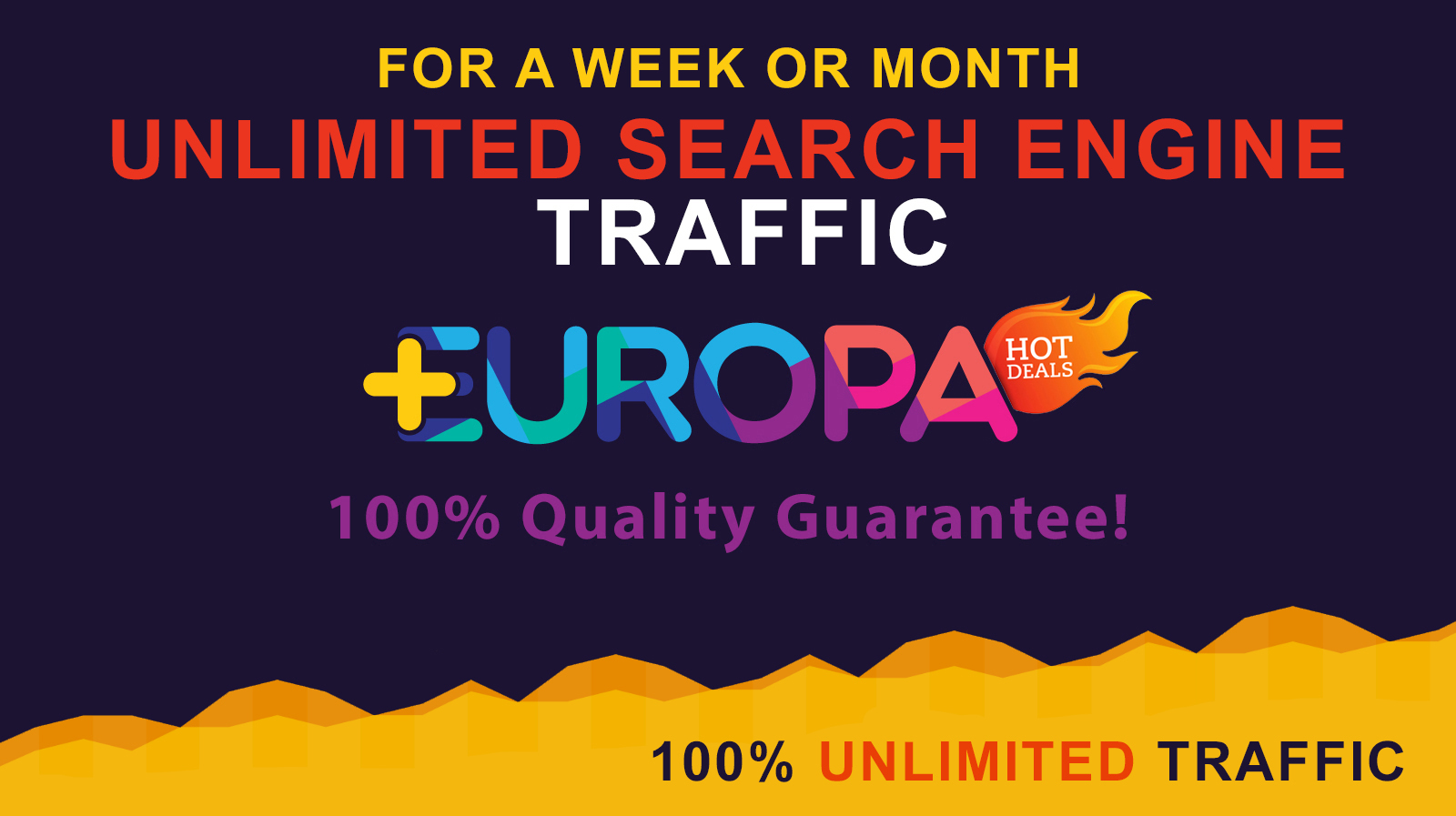 UNLIMITED SEARCH ENGINE TRAFFIC FOR A WEEK OR MONTH PLUS BONUS