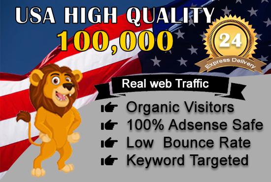 send 100,000 adsense safe USA target website, traffic, daily visitors