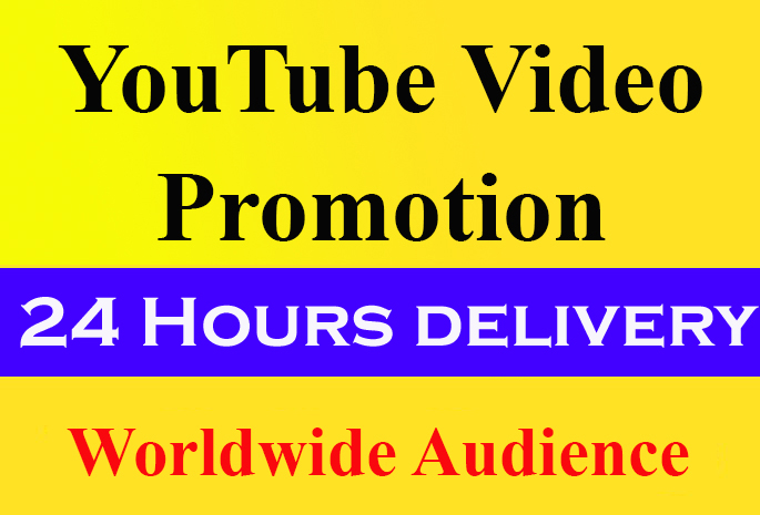 Organic YouTube video Promotion and social marketing
