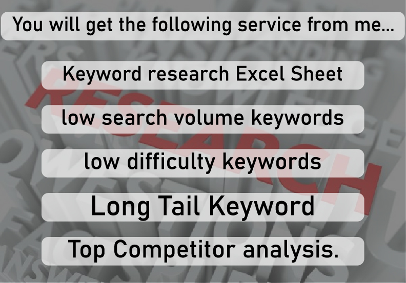 do profitable keyword research and competitor analysis