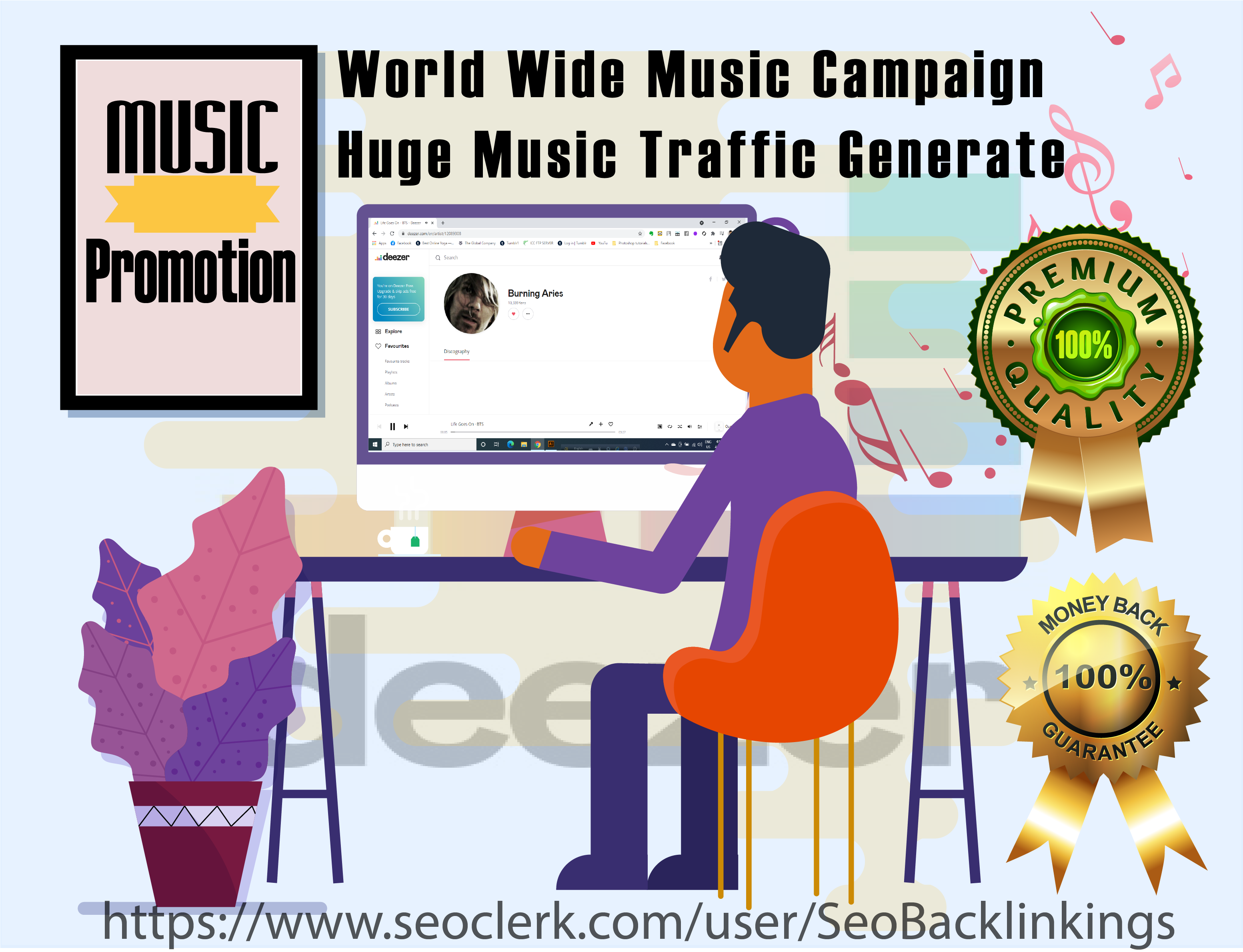 Buy High Quality Deezer Music Promotion Through Real Audience traffics