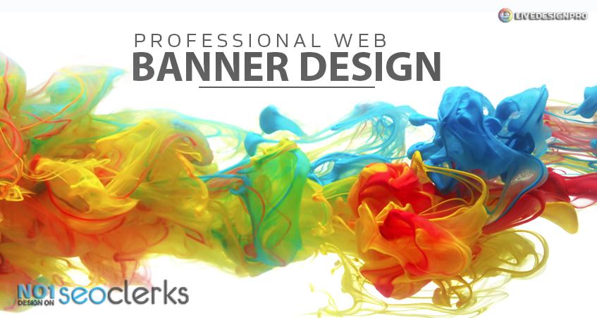 design banner for website,  professional web banner design