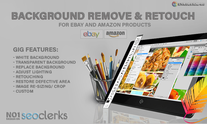 do 10 images remove background with clipping path and retouch for ebay or amazon product