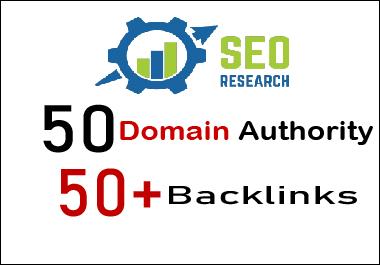 50 domain authority 50 plus backlinks