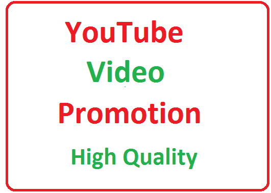 YouTube video Promotion High Quality With Fast Delivery