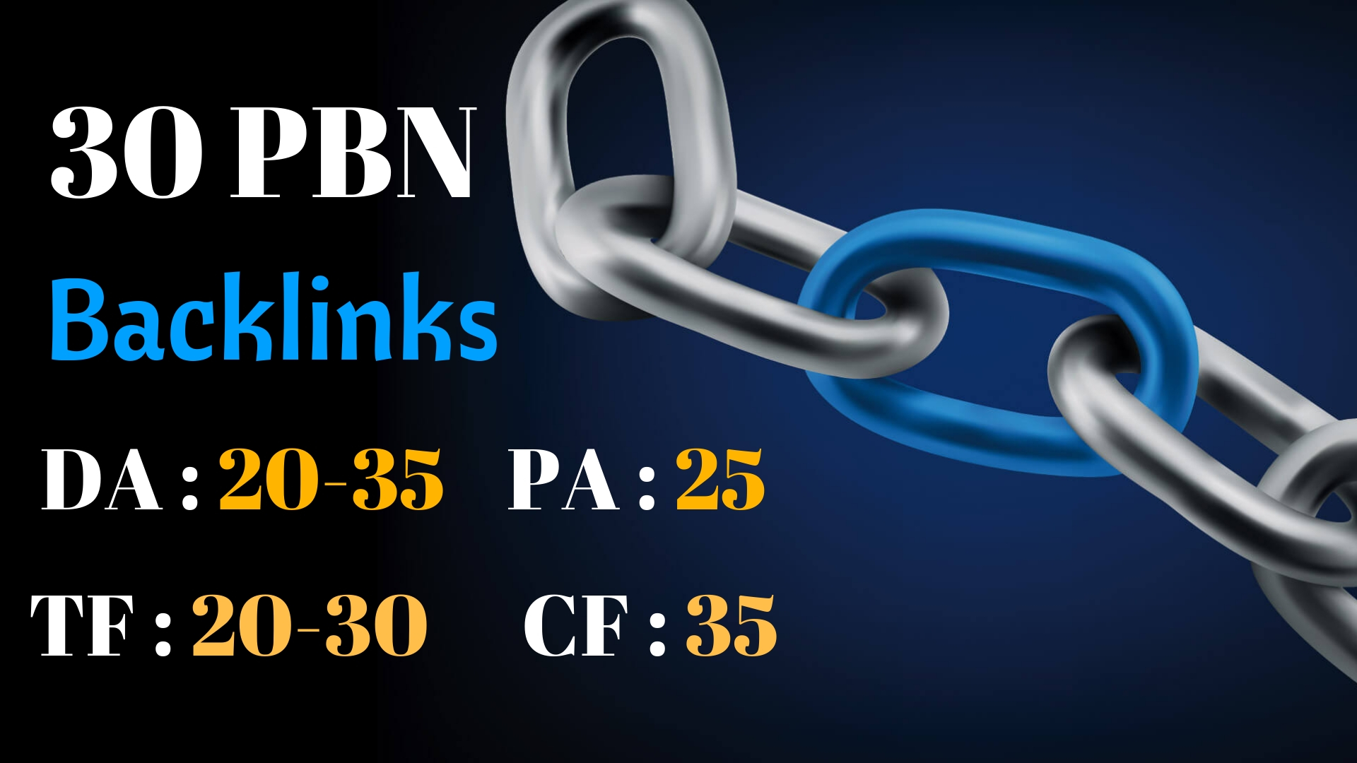 30 Pbn Backlinks Of Da 40 And Pa 35 To Rank No1