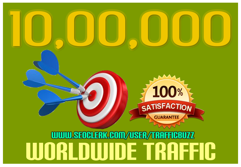DRIVE 10, 00,000+ 1 MILLION TARGETED Human Traffic to your Website or Blog