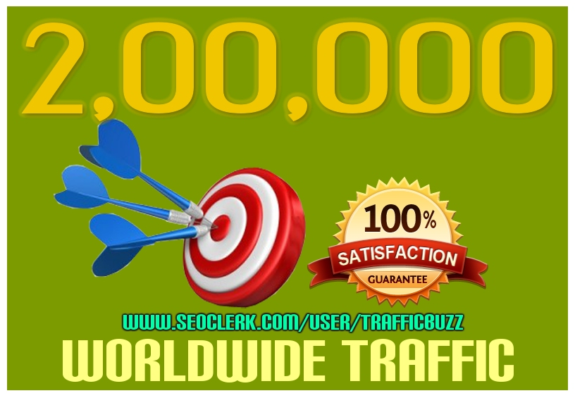 DRIVE 2, 00,000+ TARGETED Human Traffic to your Website or Blog