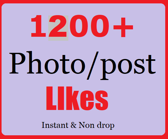 Instant 1200+ Social likes High Quality