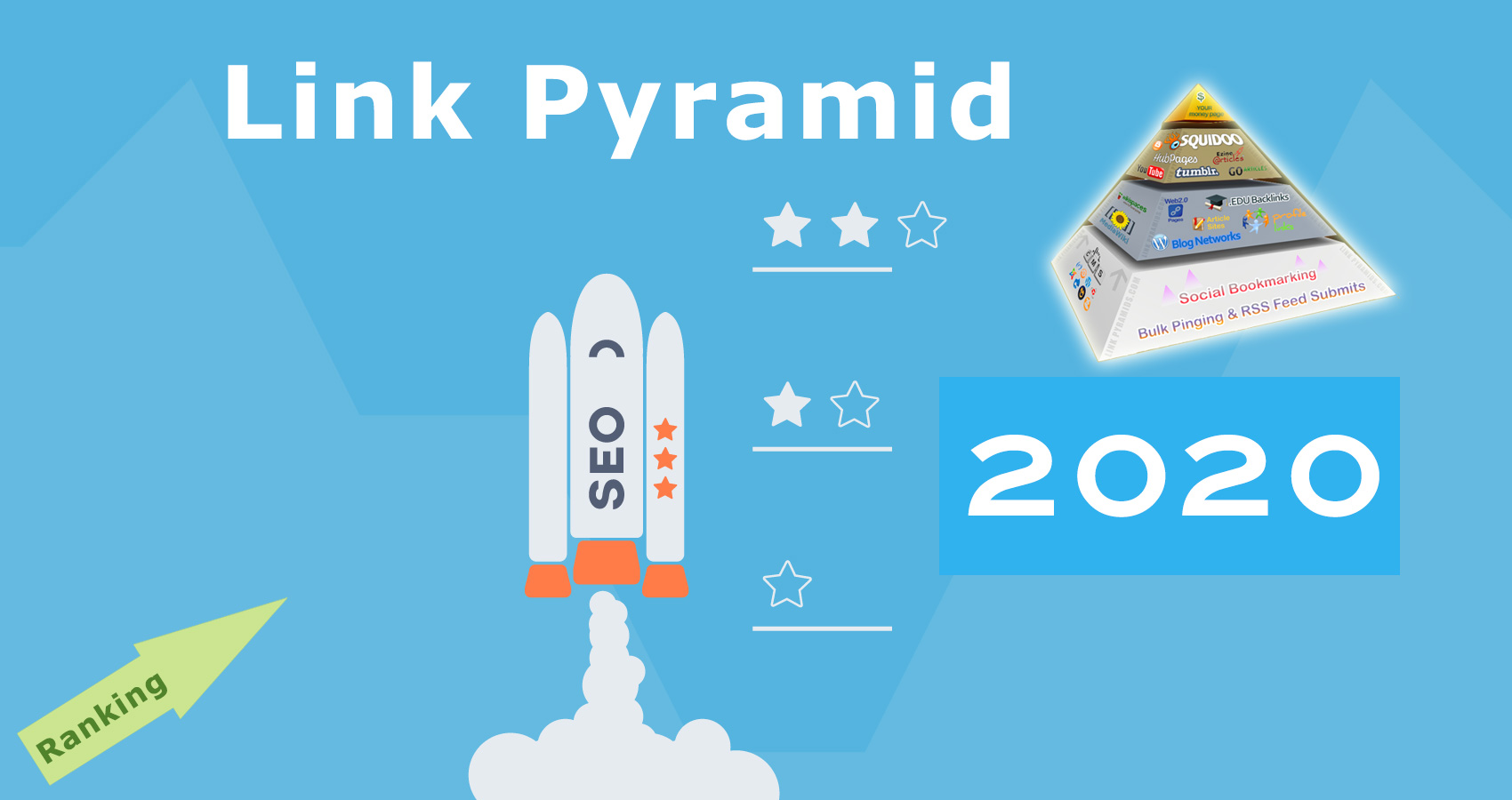 SEO backlink campaign 2 tier link pyramid increase your google rank