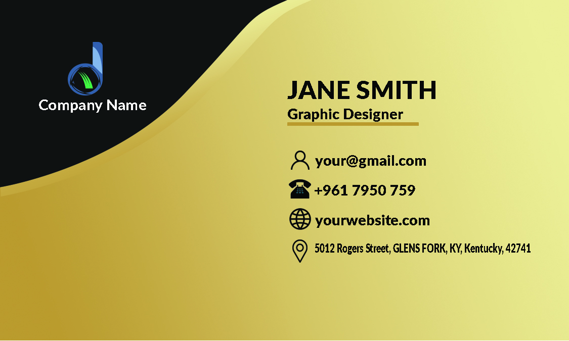 I Create a professional business card and business card design