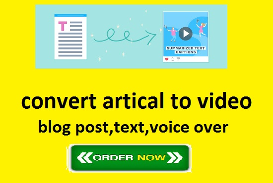 Convert Artical To Video, Text, Post in 24 hours