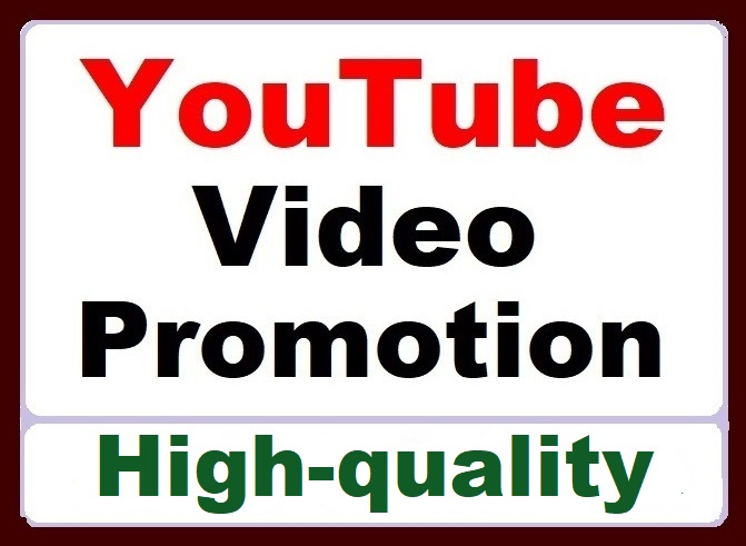 YouTube Video Promotion All In One Service Organic