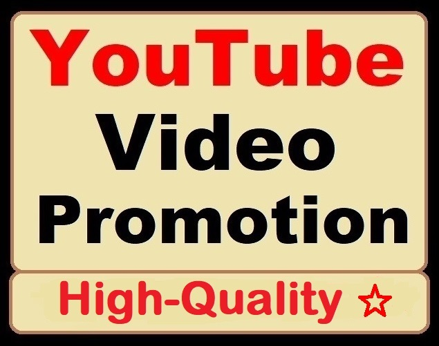 YouTube Video Organic Promotion and Marketing Great Deal