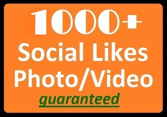 1000+ Social Likes on Pics, Videos, High-quality Promotion instant