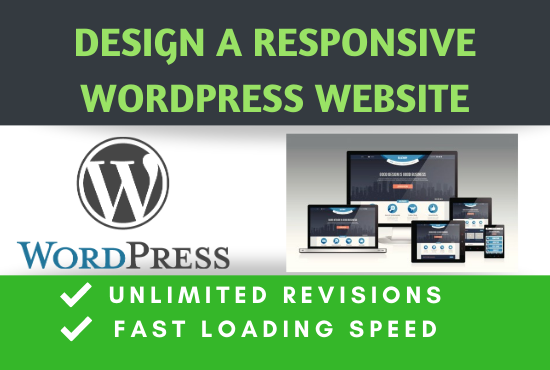 I will create a 5 page responsive WordPress website design