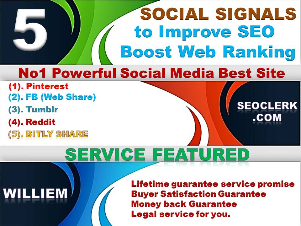 Powerfull Top 5 Platform 7,122 Reddit/Tumblr/Bitly/Pinterest/Mixed/Social Signals/Backlinks/Bookmark