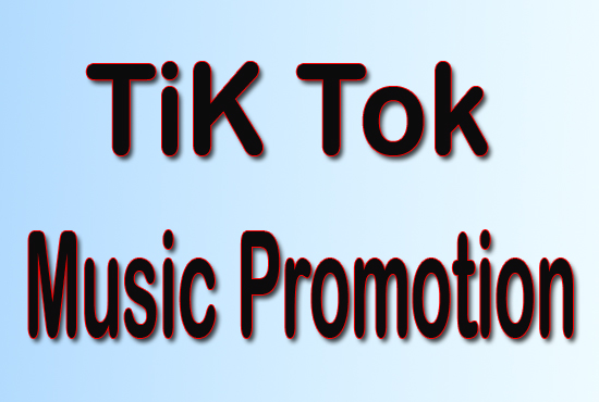 I will promote tiktok account organically,  tiktok music video promotion