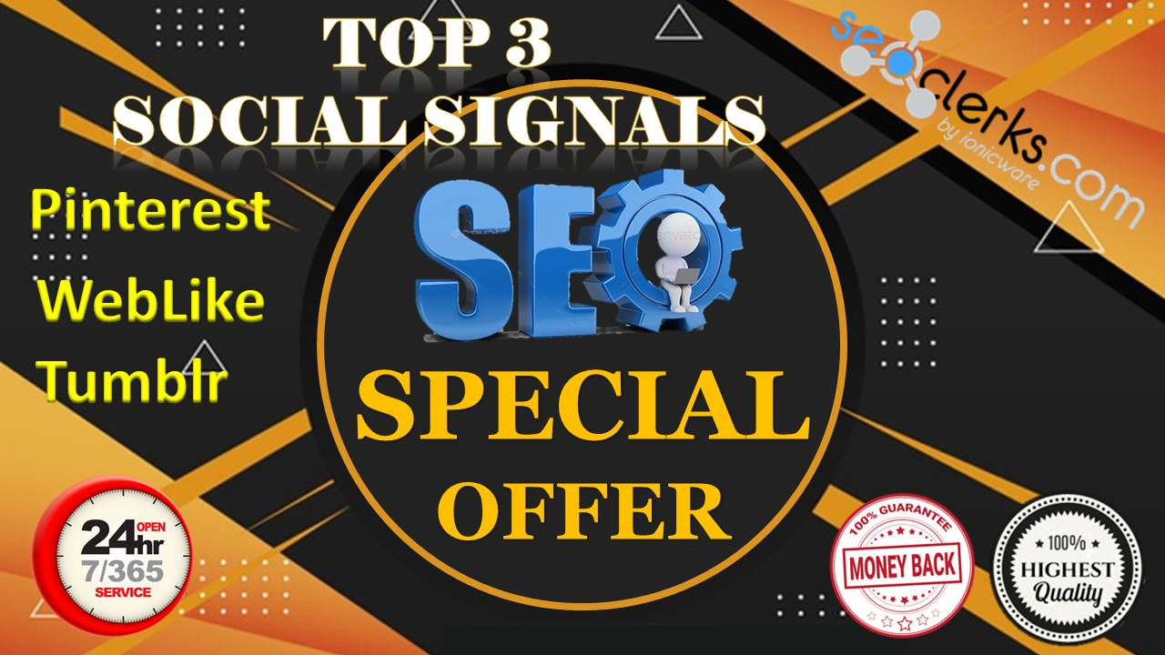 13,200 Real High Quality Pinterest WebLike Tumblr Share Social Signals SEO & Social Campaigns