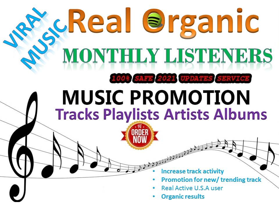 GET Build USA High Qualit Monthly Listeners And Track Streams For Your Artist Profile Promotion