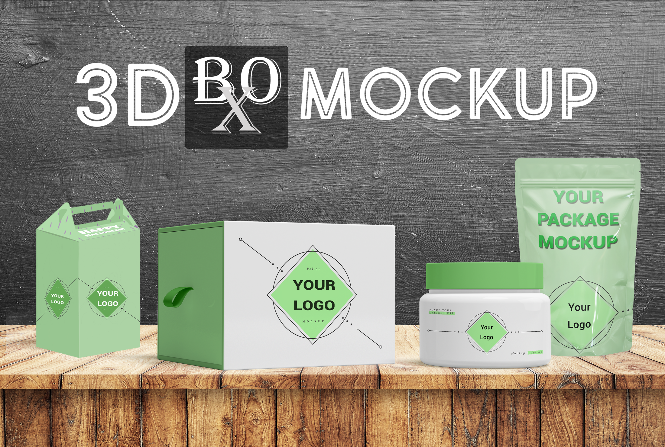 I will create 3D Mockup Model and Packaging