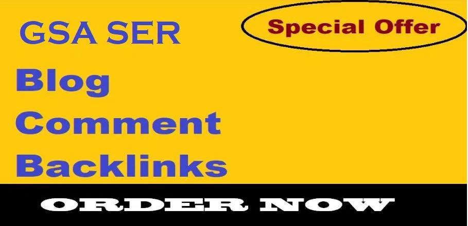 Provide 2000 gsa ser blog comment backlinks improve SEO ranking