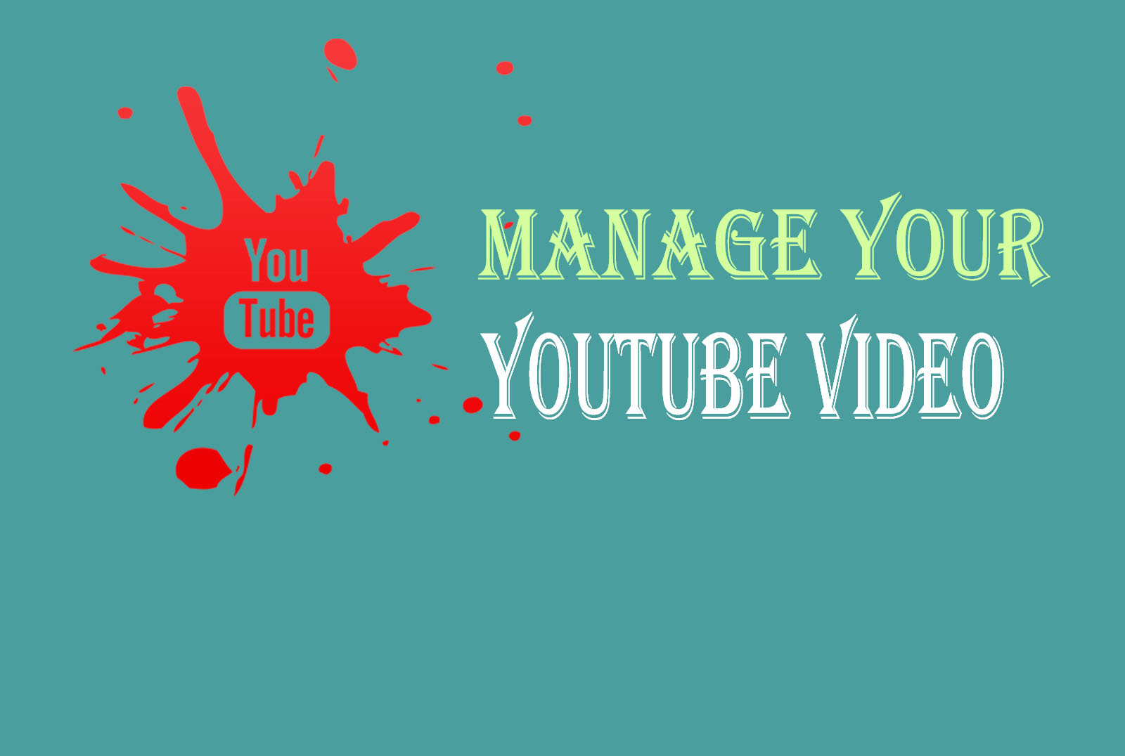 Manage your Youtube video social media marketing