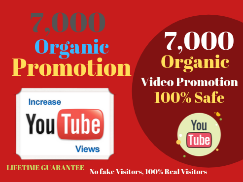 NON-DROP & HIGH QUALITY PROMOTION and SEO on your YouTube video With Safety Lifetime Guaranteed