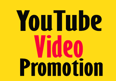 I will do organic youtube video promotion real users