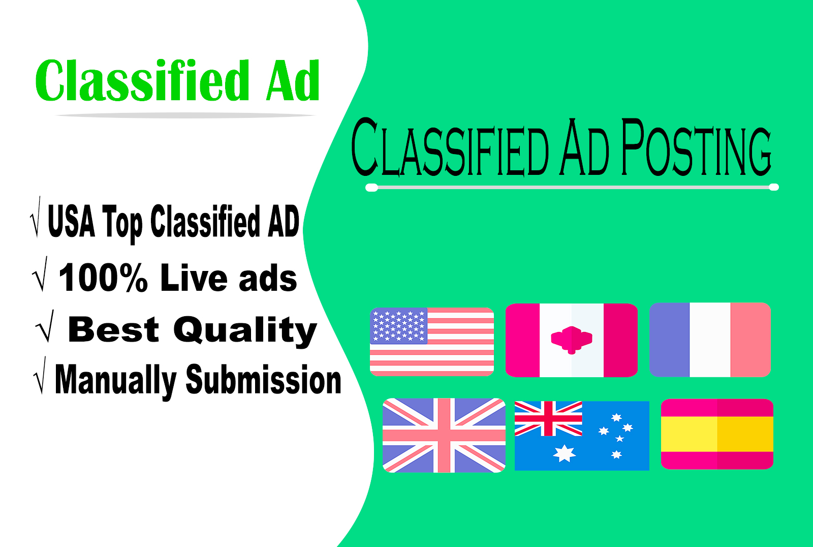 I will post your ad usa top classified ads submission sites