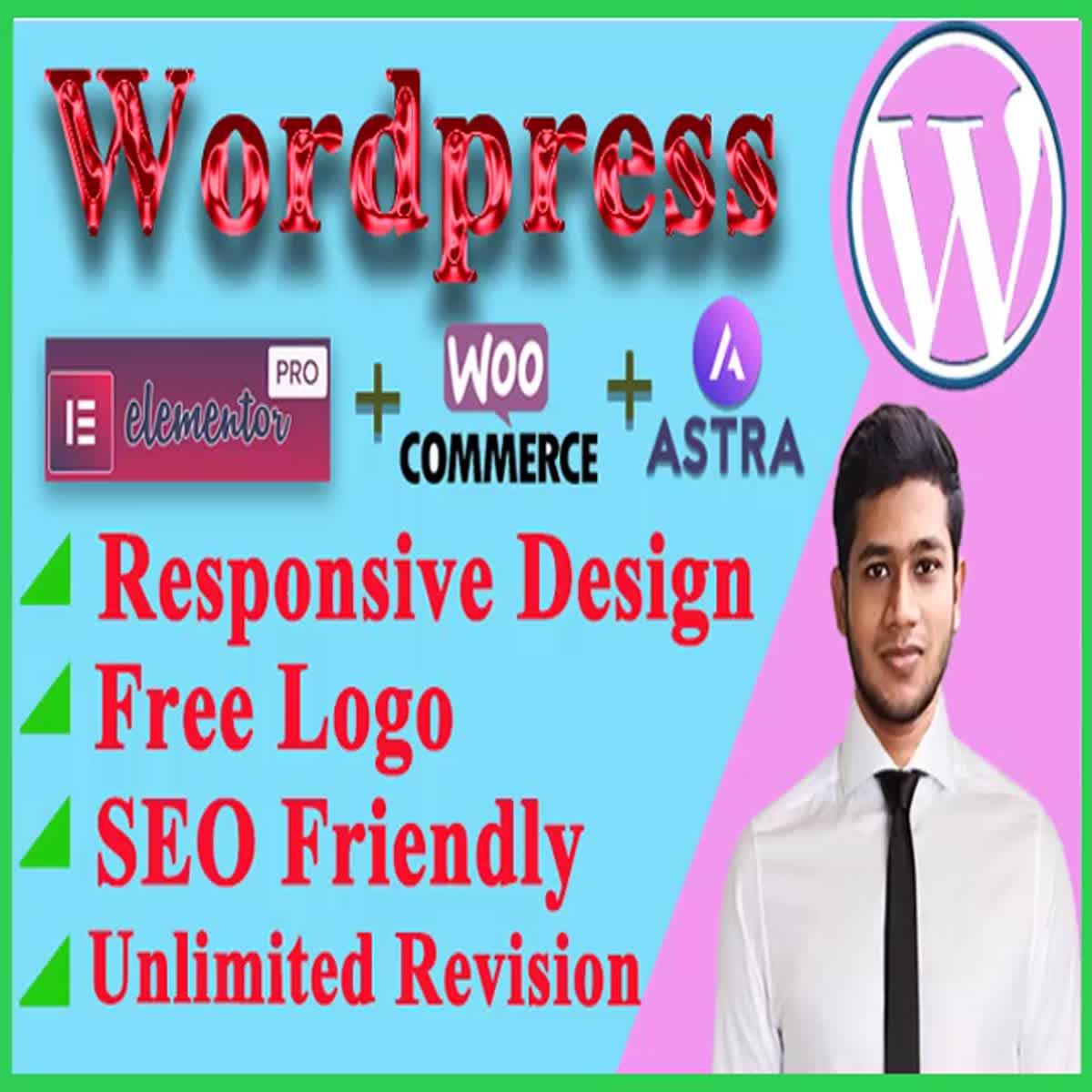 wordpress website design and develop a responsive website or customize website