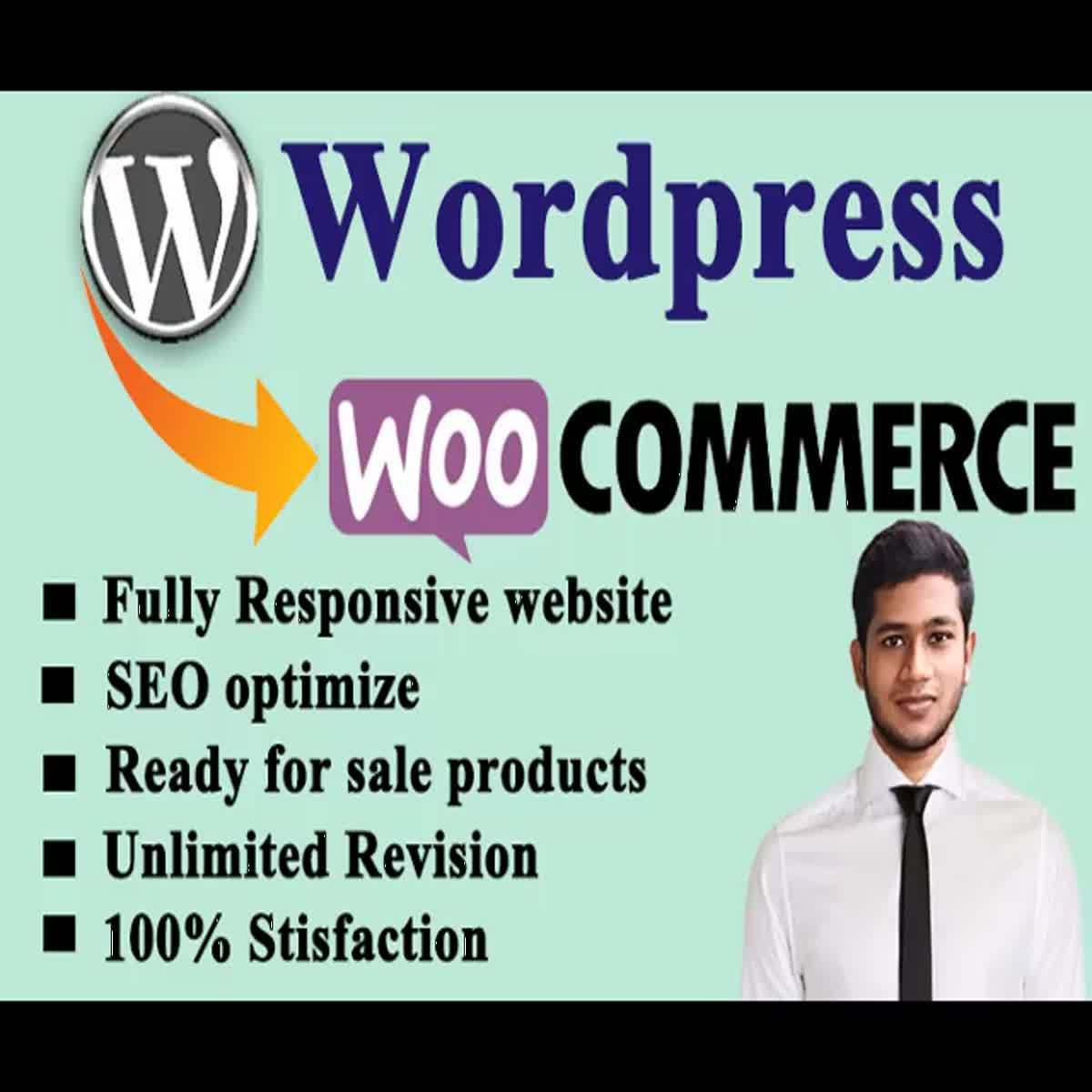 do wordpress ecommerce website or business website online store with woocommerce
