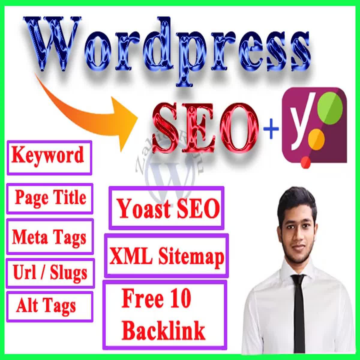 I will perform wordpress seo optimization or on page seo optimization using yoast seo plugin